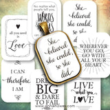 Instant Download of Favorite Quotes 20x30 Rectangle Pendant Digital Download Sheet.