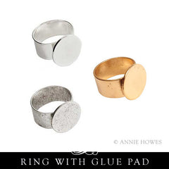 Adjustable Ring with Glue Pad. Nunn Design.