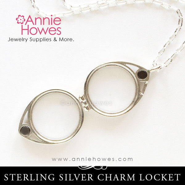 Sterling Silver Glass Locket For Charms 17mm Annie Howes