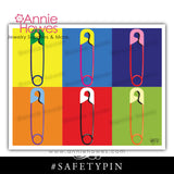 "Instant Download of Safety Pin #safetypin 8""x10"" Printable Sheet."
