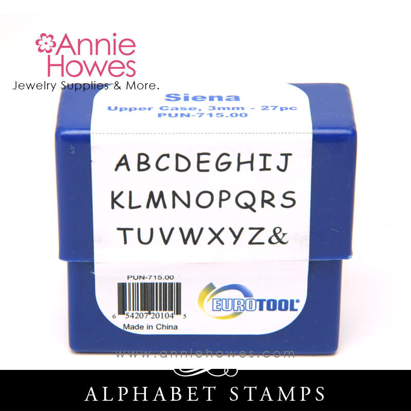 Eurotool Metal Stamps - Siena Uppercase Set