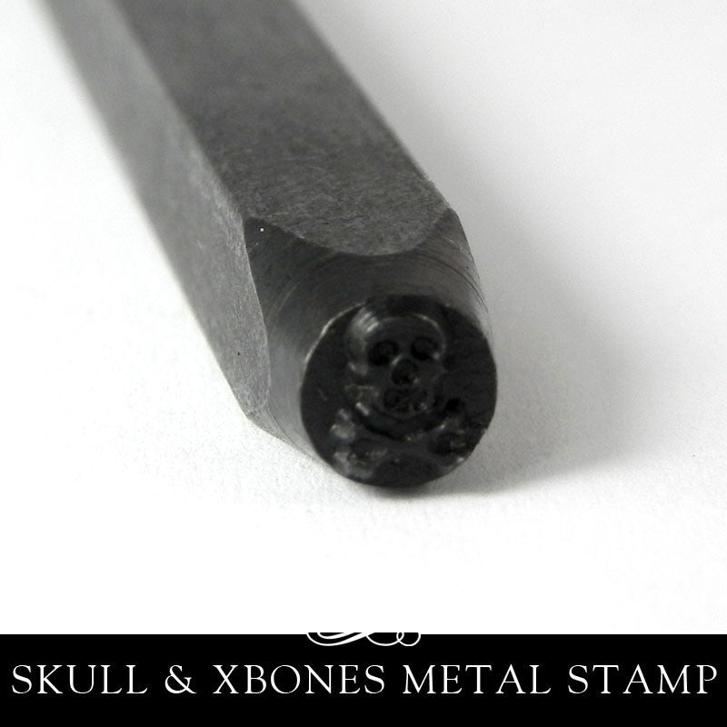 Eurotool Design Stamp 5mm - Skull & Crossbones