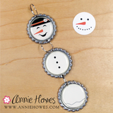 "Santa, Elf, and Snowman 1"" Circle Image Sheet. PDF Digital Download for Bottle Caps, Pendants, and Hair Bows."