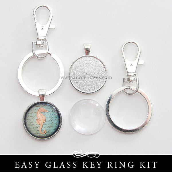 Silver Plated Metal Key Ring Kit With Sturdy Swivel