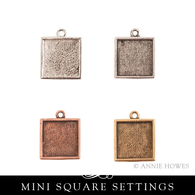 Mini Square Charm Setting - MLSS Nunn Design