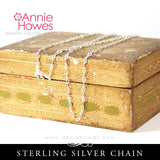 Sterling Silver Cable Chain 24 Inch Length