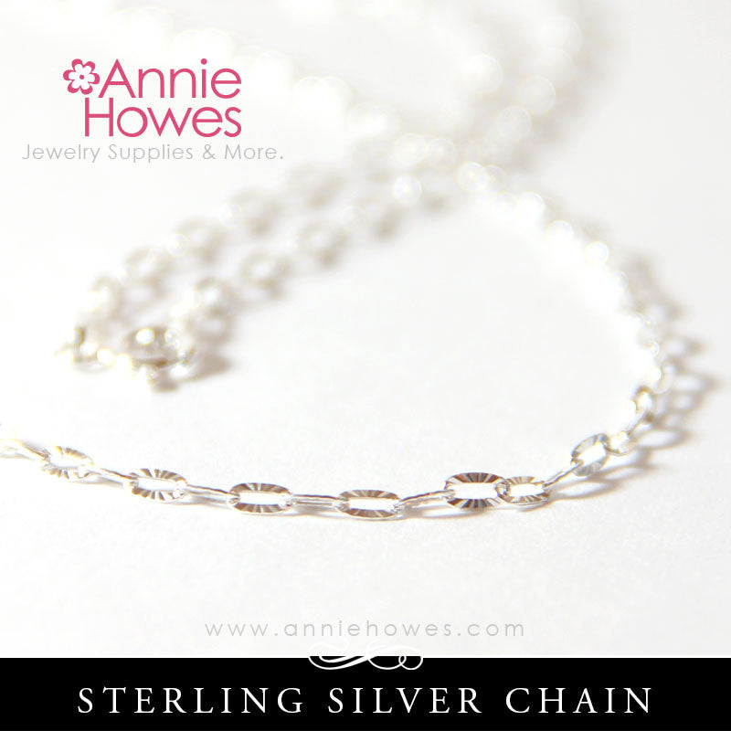 Sterling Silver Cable Chain 20 Inch Length
