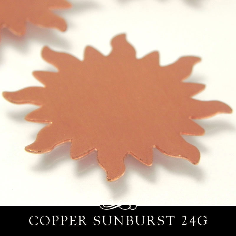 Copper Metal Stamping Blank 24G Sunburst