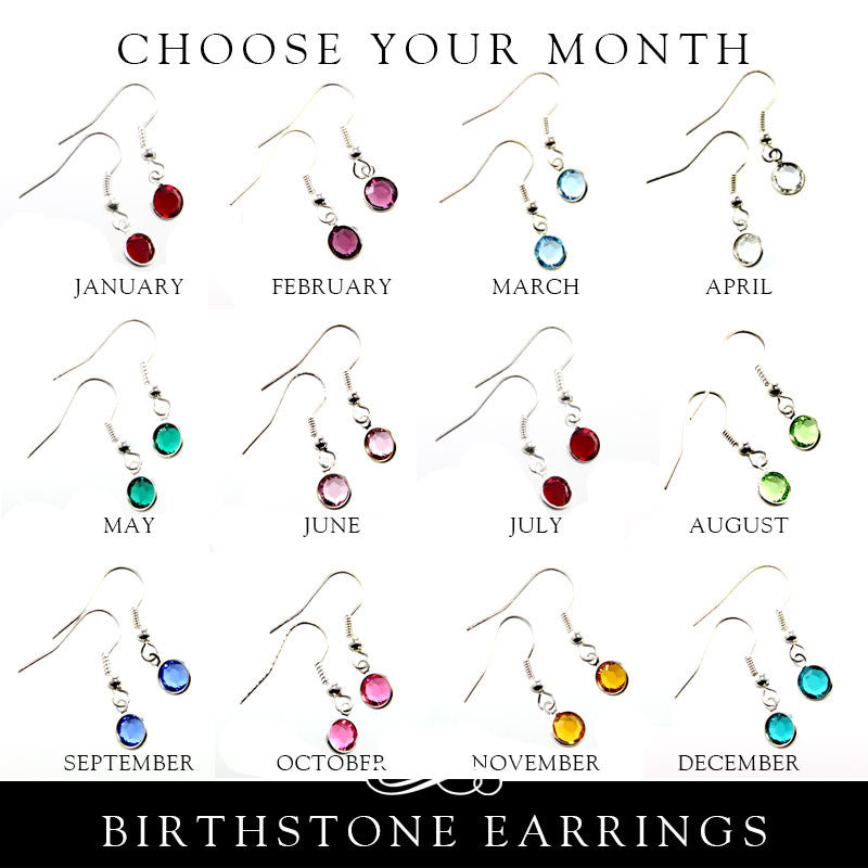 Swarovski Crystal Birthstone Earrings