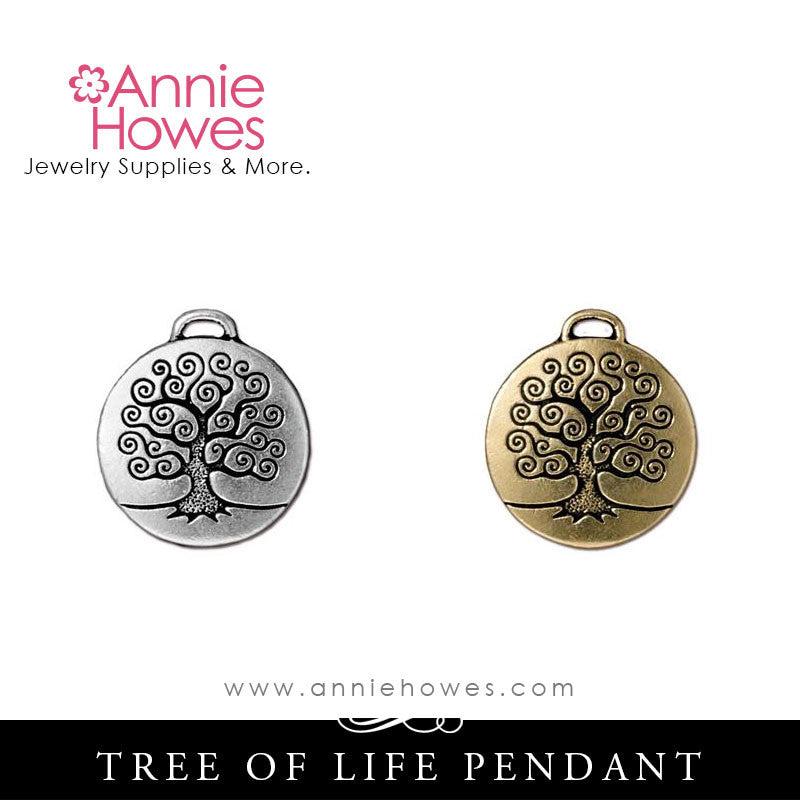 Tree of Life Charm or Pendant. TierraCast.