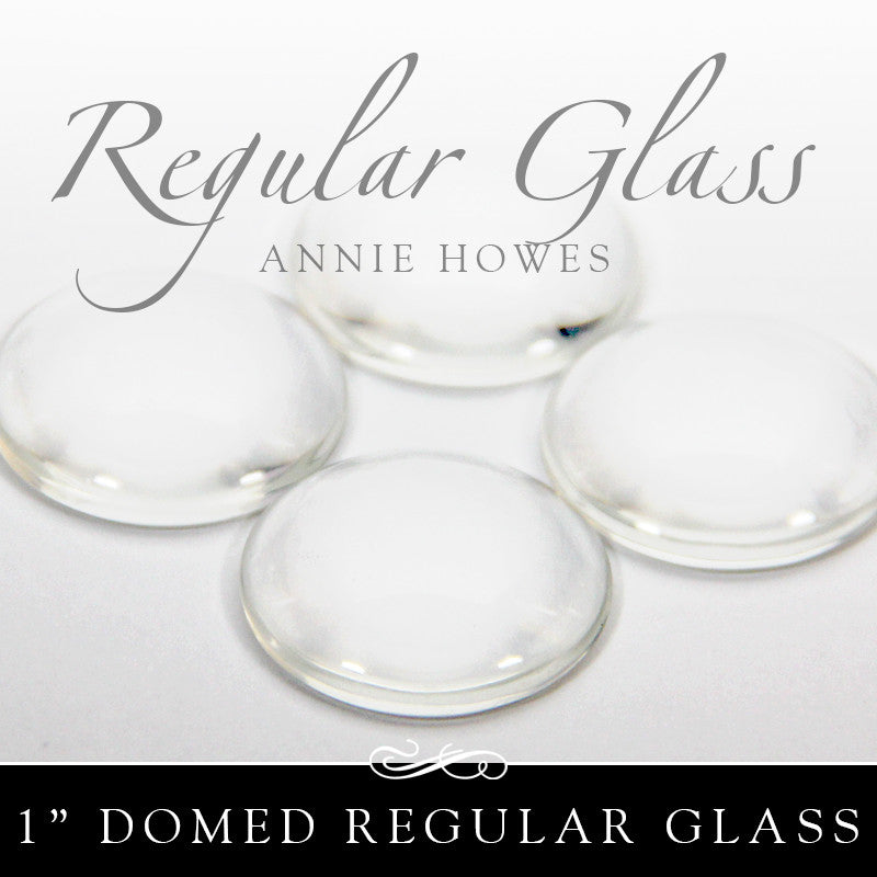 Regular Domed Circle Glass Shapes 1 Inch - 25 Pk UB Glass