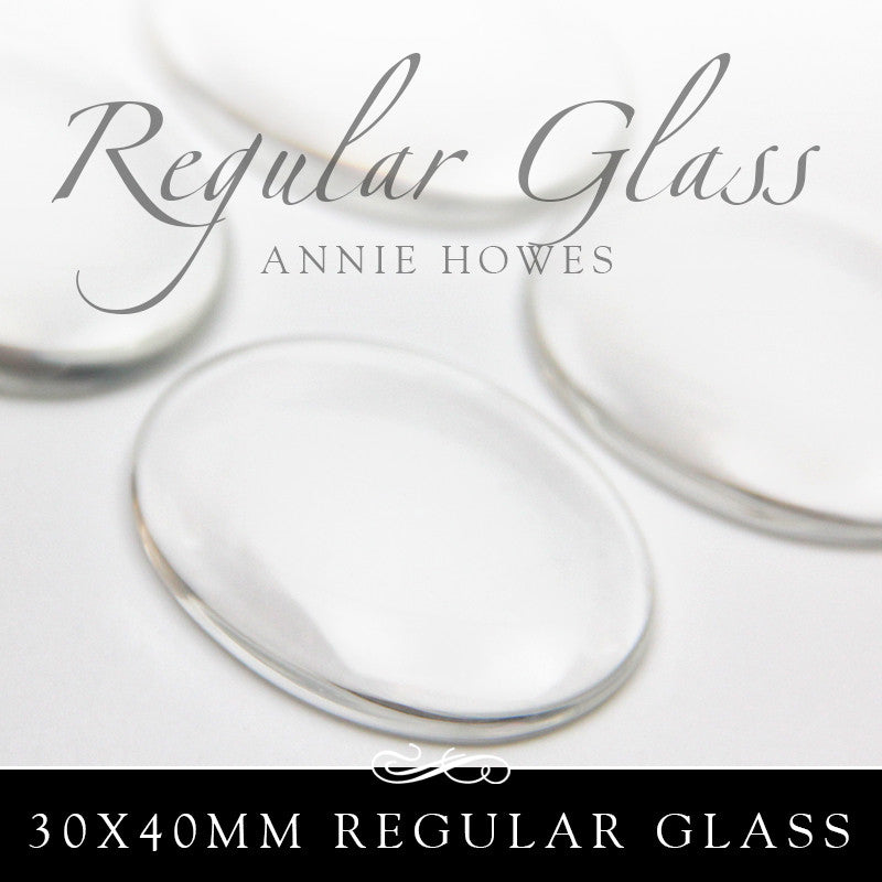 Regular Large Oval Glass Shapes 30x40mm - 25 Pk UB Glass
