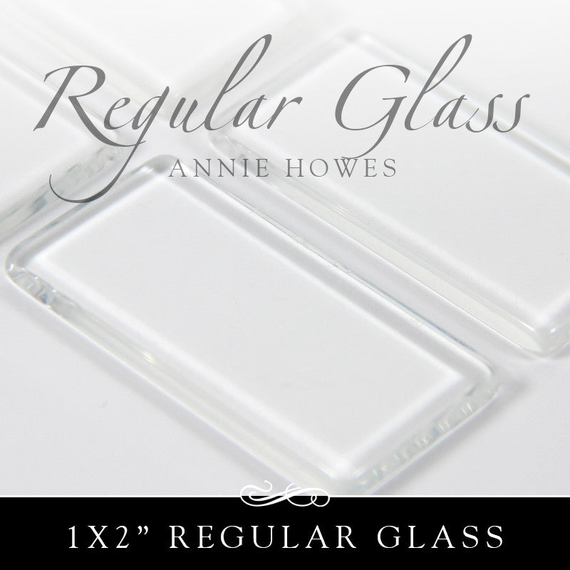 Regular Rectangle Glass Shapes 1x2 Inch - 25 Pk of Glass
