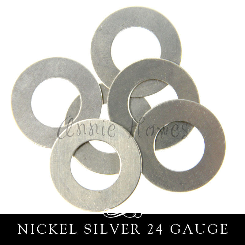 Nickel Silver Metal Stamping Blank 24G Washer