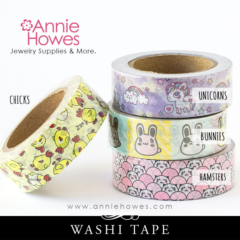 Washi Tape Animals Unicorns Chickens Bunnies and Hamsters