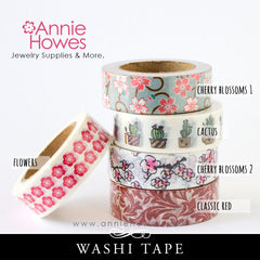 Washi Tape Flower Blossoms Cactus Succulents Floral