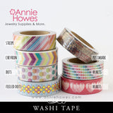 Washi Tape Rainbow, Polkadot, Hearts, Stripes, Chevron, Vintage Postmark Patterns