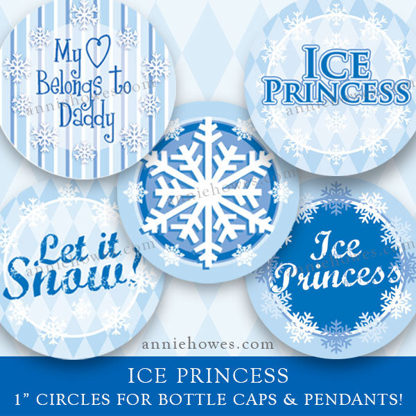 "Winter Wonderland. 1"" Circle Digital Download Sheet for Pendants and Bottle Caps."