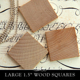 Wooden Square Cut Out (flat) - 1-1/2 Inch x 3/16 Inch