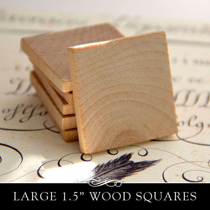 Wooden Square Cut Out Flat 1 1 2 Inch X 3 16 Inch