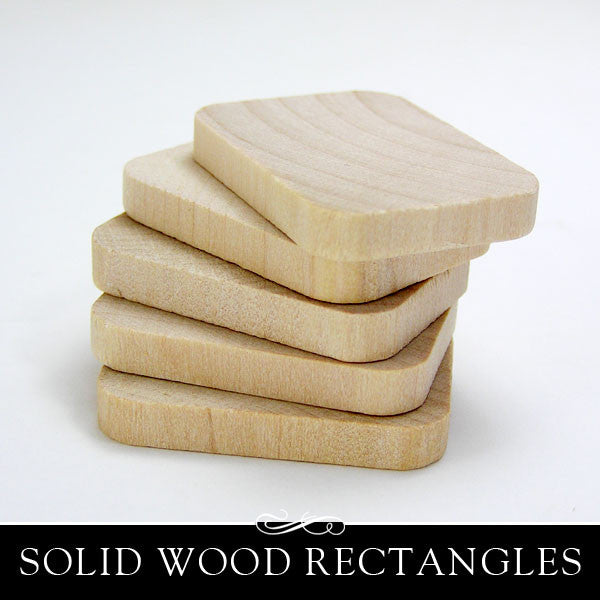 Wood Rectangle Cut Out - 1-3/8 Inch x 3/16 Inch