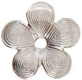 Metal Embellishment. Silver Morrocan Flower - 2 Pack Nunn Design