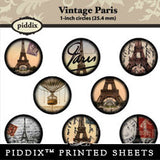 Piddix  - 1 Inch Collage Sheets - Vintage Paris - Circle