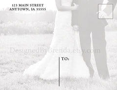 Blended Photo Collage Wedding Thank You Postcard