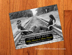 Modern Save the Date Postcard - With Photo
