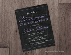 Chalkboard Style Retirement Party Invitations - Great for a Teacher