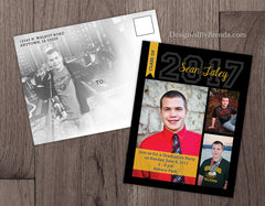 Photo Graduation Announcement Invitations - Postcard Style