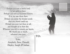 Memorial Thank You Postcard with Large Photo on Front - Double Sided Funeral Remembrance Card