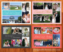 Wedding Thank You Postcard - Collaged Pictures