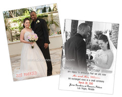 Just Married Wedding Announcements - Double Sided - Any Colors