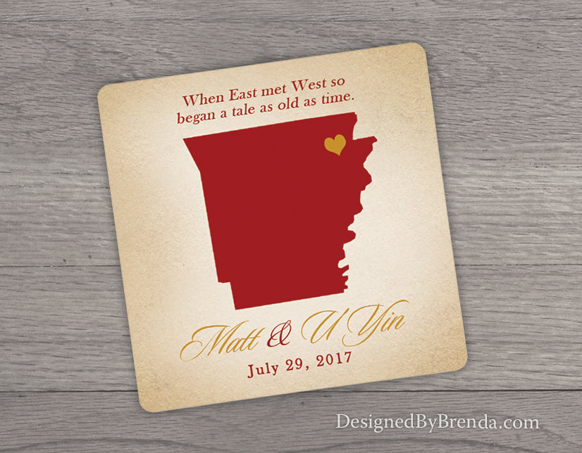 Wedding Favors Coaster.Rustic Wedding Favor Coaster With Mexico Or Any State Or Country Destination Wedding Favors Navy Coral