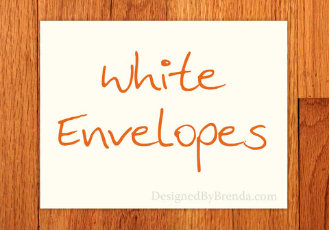 A7 White Envelopes - Free shipping with card order