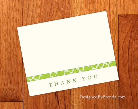 Folded Lucky in Love Thank You Card with Green Shamrock Design - Digital Option