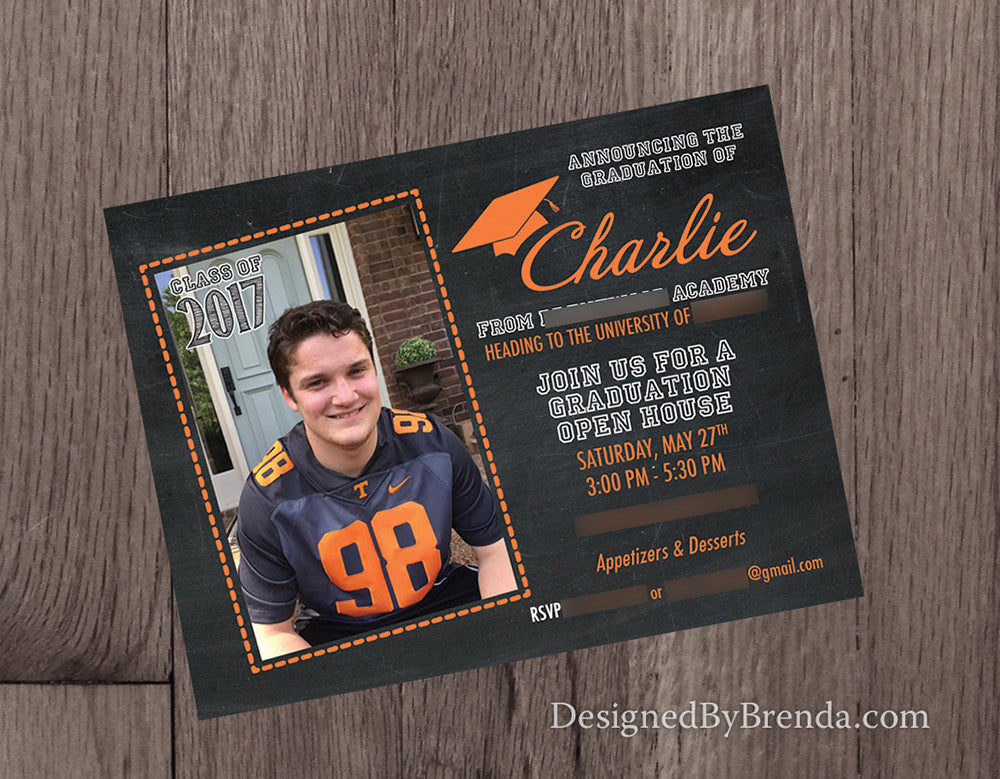 Chalkboard style graduation announcement invitation postcards w chalkboard style graduation announcement invitation postcards with photo filmwisefo