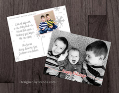 Modern Happy Holidays Photo Postcard - Fun Custom Design