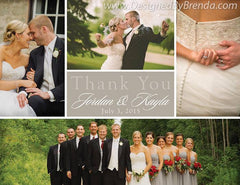 Modern Collage Wedding Thank You Card