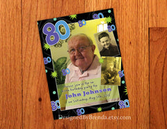 Fun Birthday Party Invitation with Photos - Any Age: 50th 60th 70th 80th 90th or 100th
