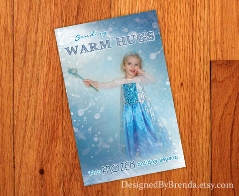 Snow Princess Holiday Card with Custom Edited Photo - Fun Winter Wonderland