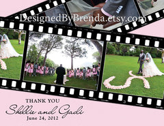 Filmstrip Wedding Thank You Card