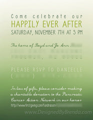 Ombre Invitation - For Baptism, Wedding, Baby or Bridal Shower, Save the Date, Etc.