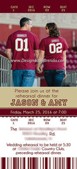 Ticket Bridal Shower Invitation - Sports Themed - Can also be Wedding Invitation or Save the Date