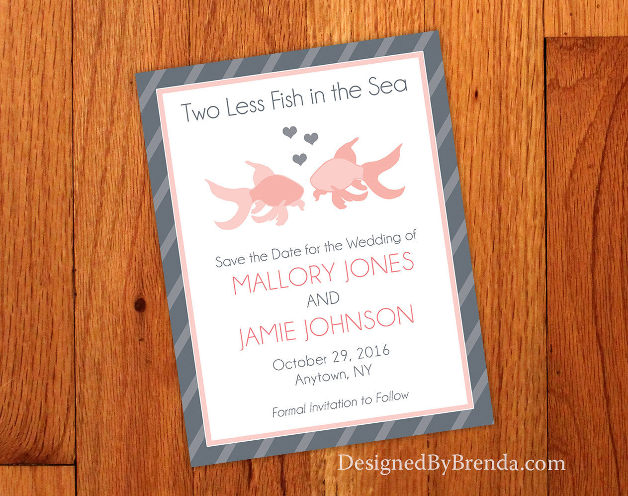 Two Less Fish in the Sea Save the Date - Card or Magnet, Any Colors