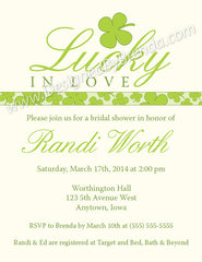 Lucky in Love Bridal Shower Invitation