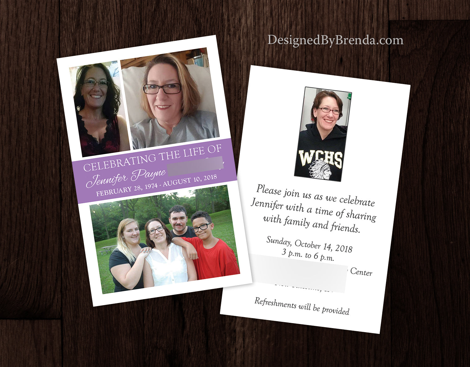 Celebration of Life Invitations with Custom Photo Collage