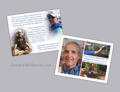 Memorial Thank You Postcards with Photos - Custom Remembrance Card for Sympathy or Funeral