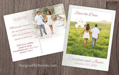 Save the Date Card with Photos on Both Sides